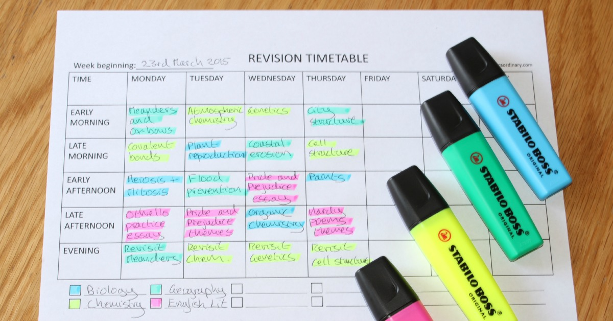 how to plan ahead for exams