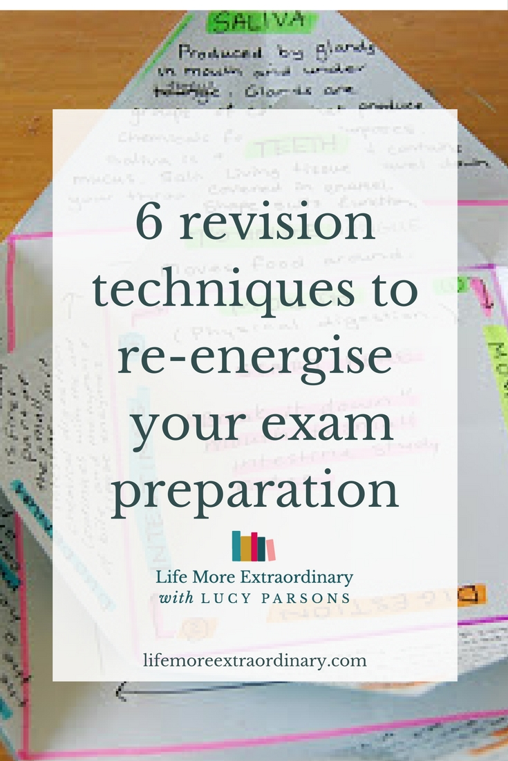 Try some new and interesting revision techniques, that's what. After all, they say a change is as good as a rest.