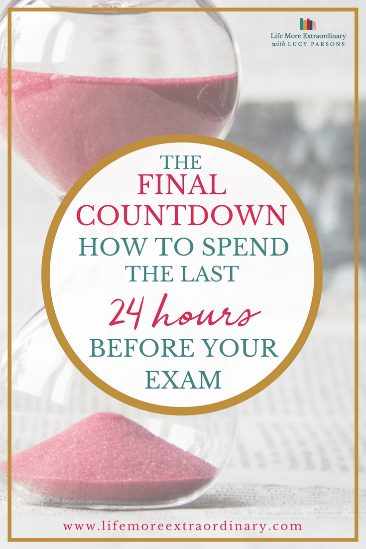 Don't waste the final 24 hours before your exam - there's a lot you can achieve to make sure you're prepared to sit the exam - and it's not all revising! #studyskills #revisiontips
