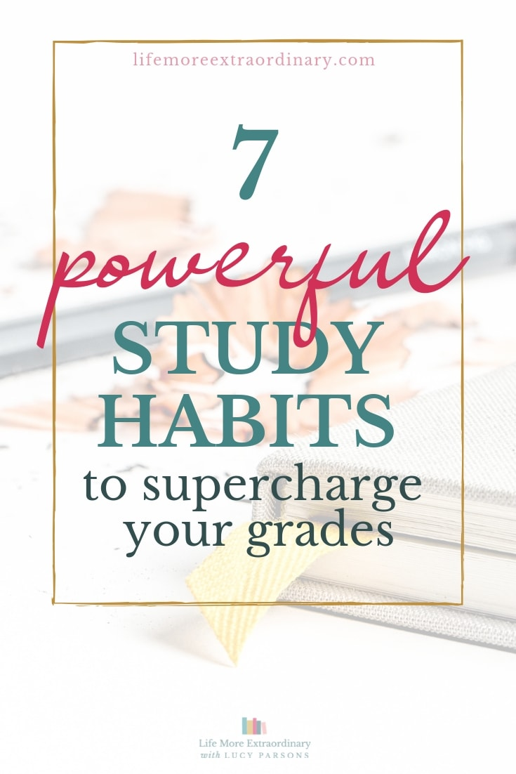 Give your exam grades a boost with these seven powerful yet small study habits to incorporate into your study routine #studytips #studyskills #examtips
