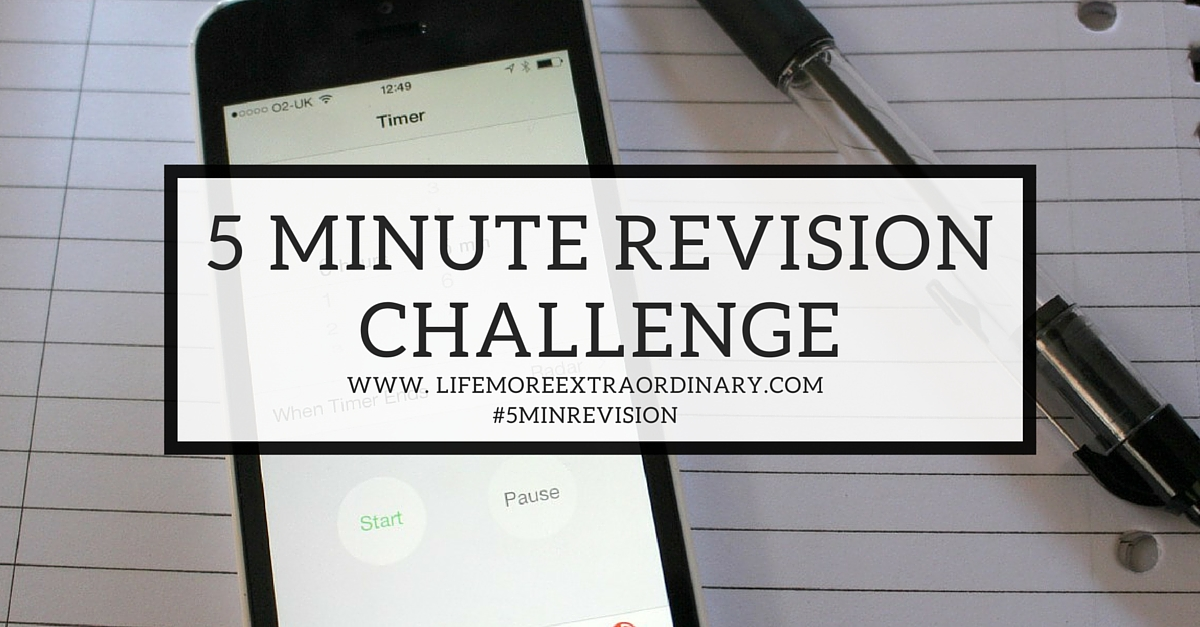 5 Minute Revision Challenge
