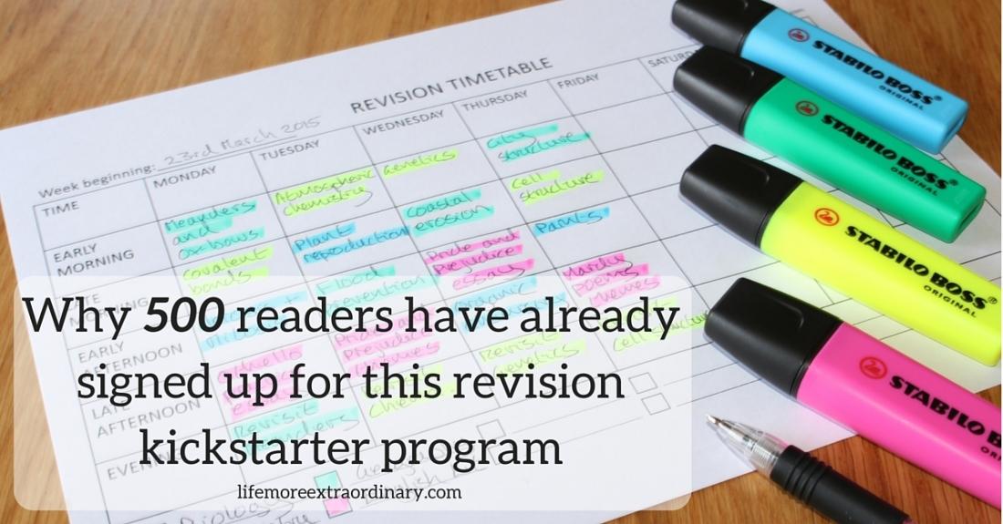 revision planning kickstarter