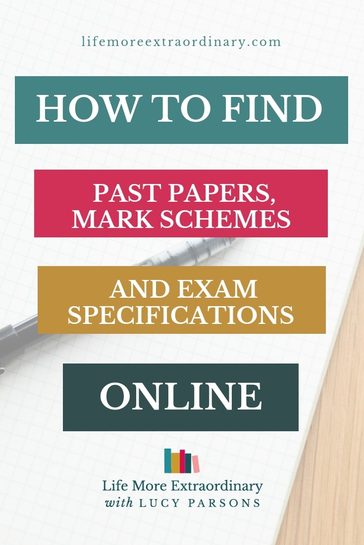 Looking for old exam papers to practise before your GCSEs or A Levels? Here's how to find those past papers, mark schemes and exam specifications that you need for your exam revision #studyskills #examtips #revisiontips