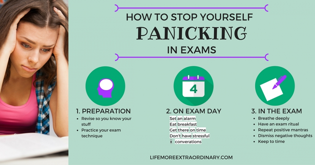HOW TO STOP YOURSELF PANICKING IN EXAMS