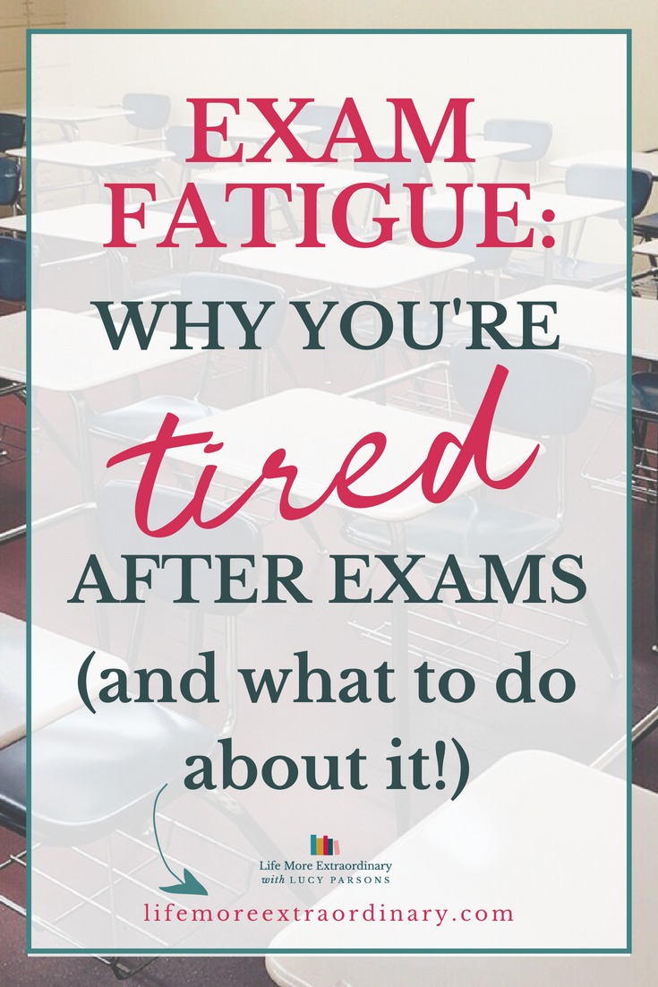 Why you're tired after exams - and what to do about it! Sitting exams can take it's toll on both body and mind, and you can feel as though you're too exhausted to carry on. But, there are ways you can cope with the tiredness so that you can power through! #studyskills #examtips