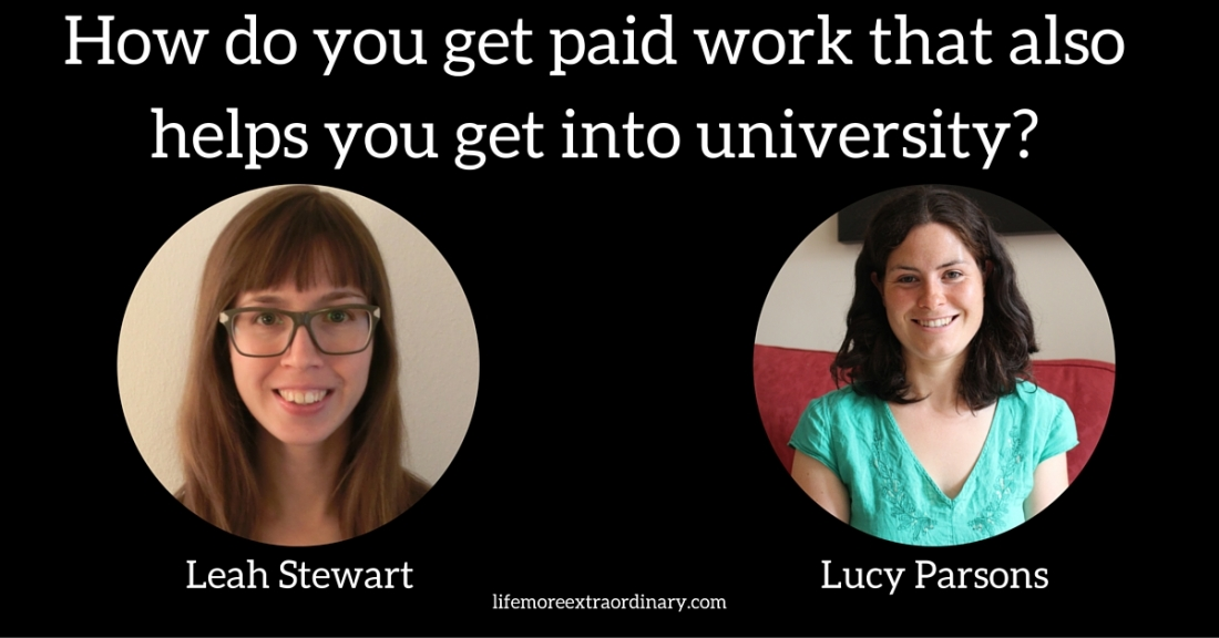 How do you get paid work that helps you get into university