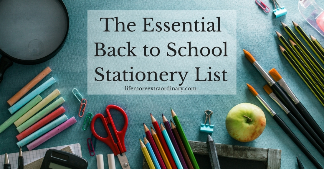 The Essential Back to School Stationery List