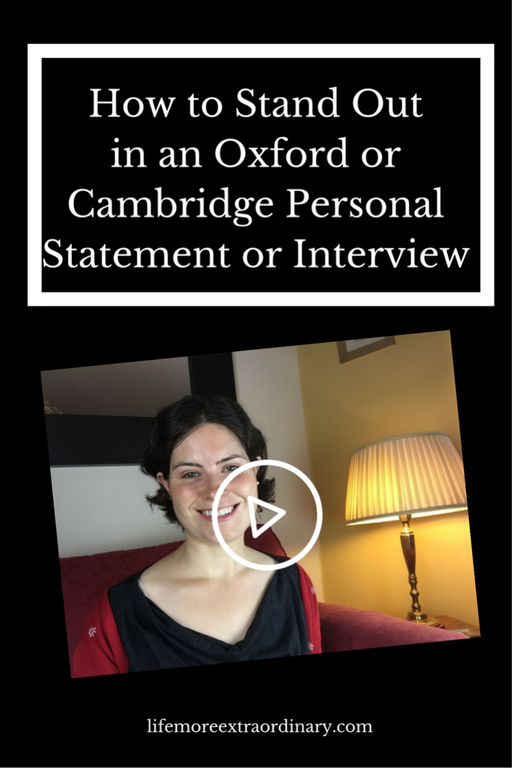 If you're applying to Oxbridge and wondering how you're going to stand out from all the other candidates I've got the answer for you in this video. Click & watch