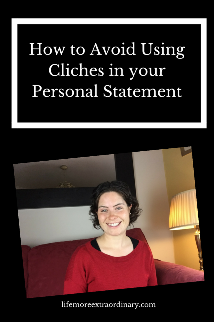 Using cliches in your personal statement will make you sound like everyone else. Click to find out my clever trick for avoiding cliches in this  blog and video. #ucas #personalstatement #uni
