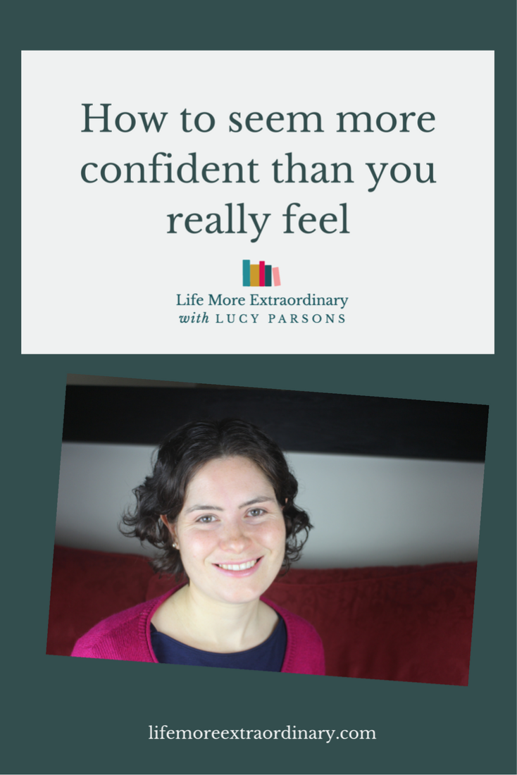 Sometimes, when it's most important, confidence can fail you. Here are my top 3 tips for seeming more confident than you really feel.