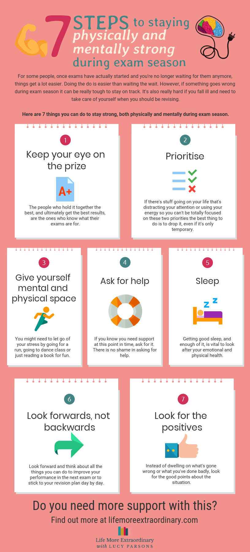 7 steps to taking care of your physical and mental health during exam season #GCSEs #ALevels #MentalHealth #parentingteens