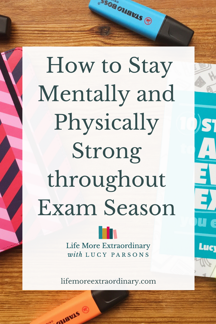 If something goes wrong during exam season it can be really tough to stay on track. It's also really hard if you fall ill and need to take care of yourself when you should be revising. I'm going to give you some top tips on how to stay mentally and physically strong throughout exam season.
