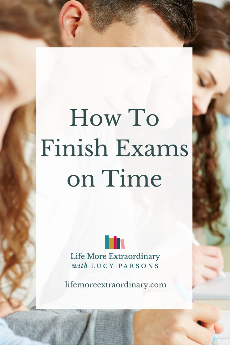 How to finish exams on time | If you struggle to answer all the questions properly in tests or exams then you're missing out on marks. In this post I share with you how you can do your best to finish exams faster and pick up more marks to improve your grade. Click through to check out all the tips.