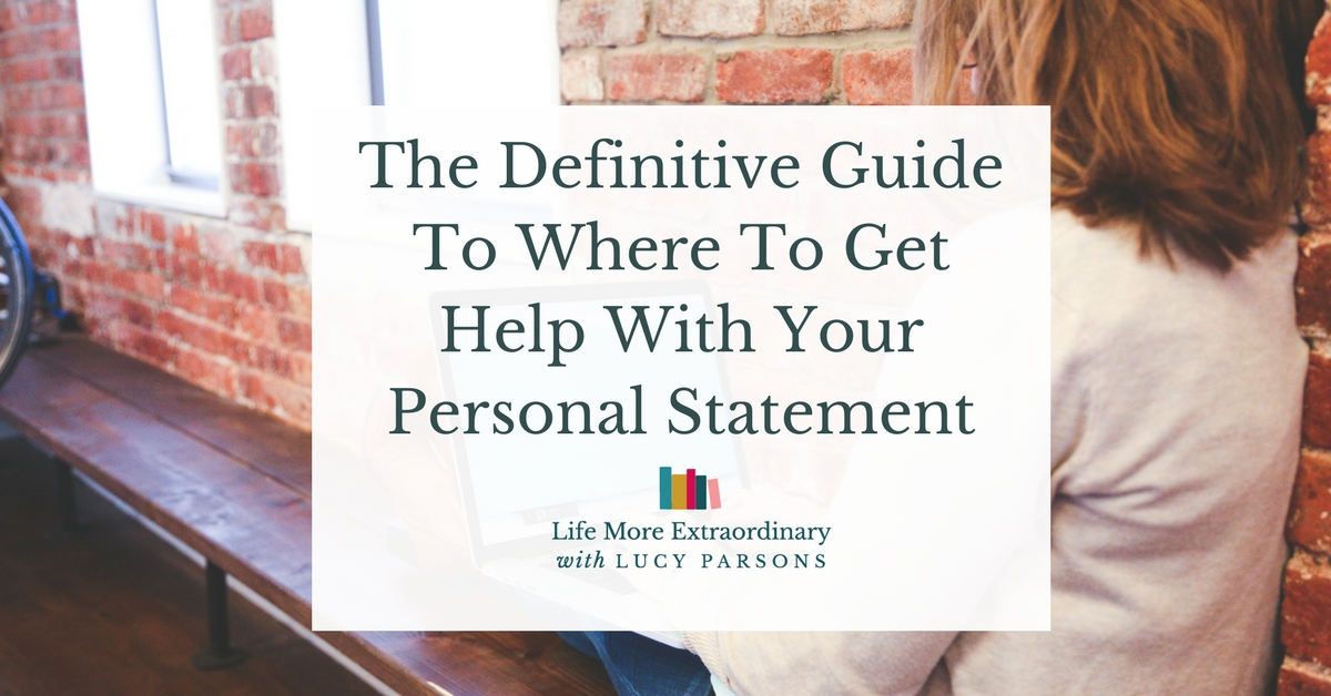 help with your personal statement