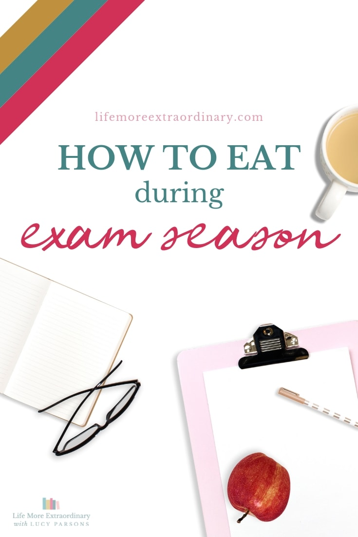 How to eat during exam season to give yourself the energy and brain power you'll need to pass your exams #exams #studytips #teens