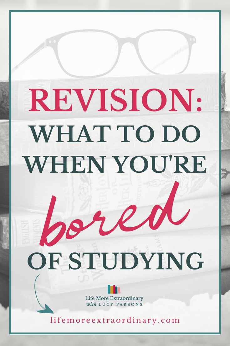 It seems like you've been revising for months. And you're BORED of it. Don't stop now. Find out what to do when you're bored of revision. Learn revision tips and techniques to power you through your A Level and GCSE exams so you get the grades you need. #studyskills #revisiontips #examtips