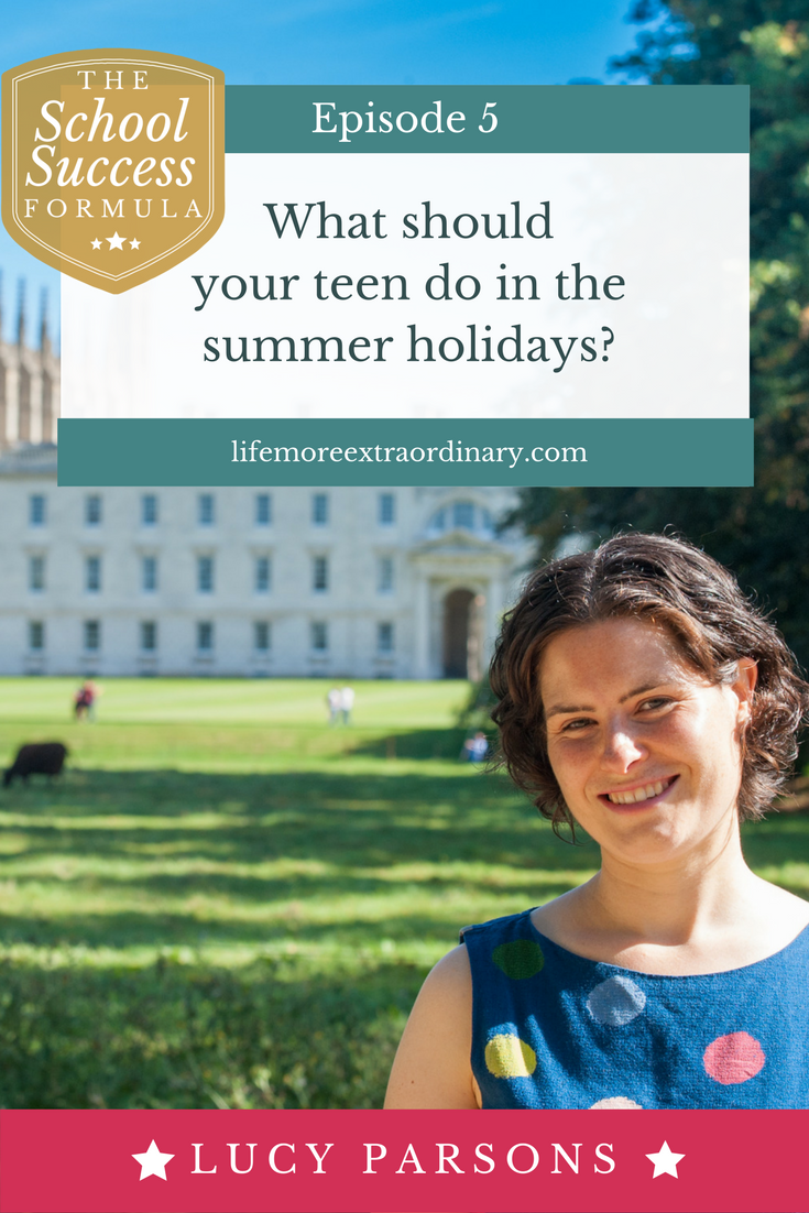 What should your teen do in the summer holidays? | When the summer holidays arrive it can seem like an endless period to keep teenagers happy and busy. In this episode I share my top tips on what your teen should be doing this summer to help them improve their grades.You might be surpised by the first one! Click through to find out more. #summerholidays #parenting #teenagers