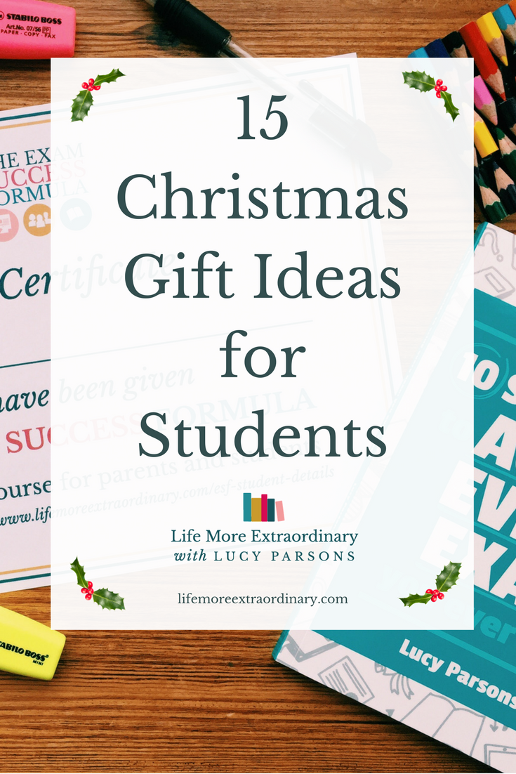 15 Christmas Gift Ideas for Students | Buying a gift for a student this #Christmas? Try one of these 15 motivational, beautiful and useful gifts to give them the lift they need to succeed in their studies. #giftideas #students #parenting #teens