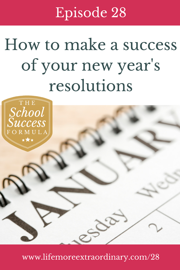 How to make a success of your new year's resolutions | Are you thinking about making any new year's resolutions? In this episode I talk about how to make sure your resolutions succeed, and the different approaches you can take to new year's resolutions. Click to listen to this episode or read the blog post. #habits #new year #resolutions