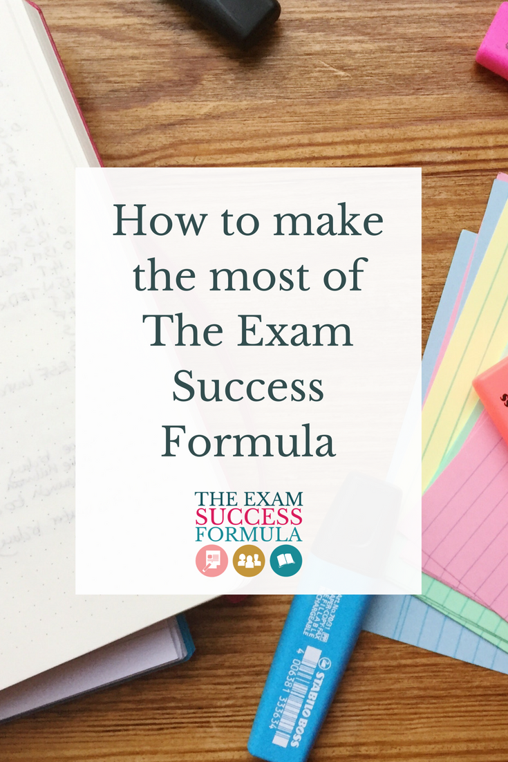 How to make the most of The Exam Success Formula | Thinking of joining The Exam Success Formula? Find out how to make the most of your investment in this blog post.
