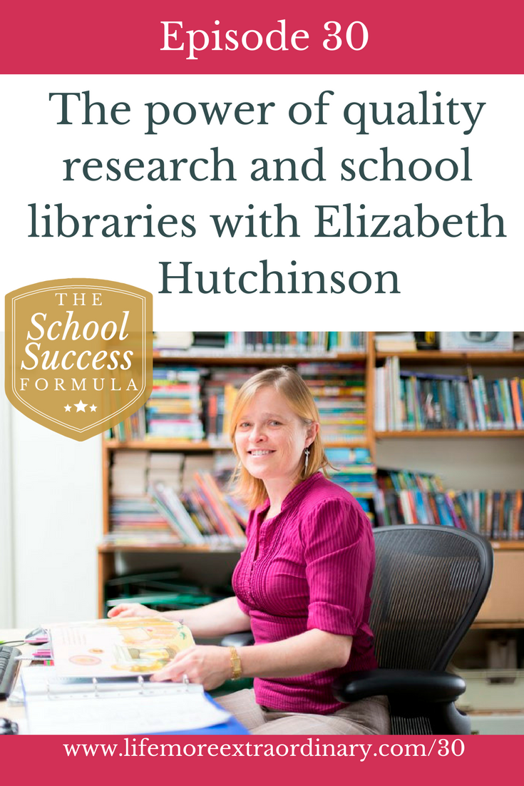 The power of quality research and school libraries with Elizabeth Hutchinson | In this episode, we explore how school libraries can improve  the quality of your research both online & offline via @Lucy Parsons