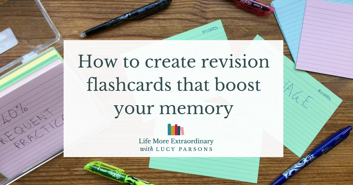 How to make flashcards for revision