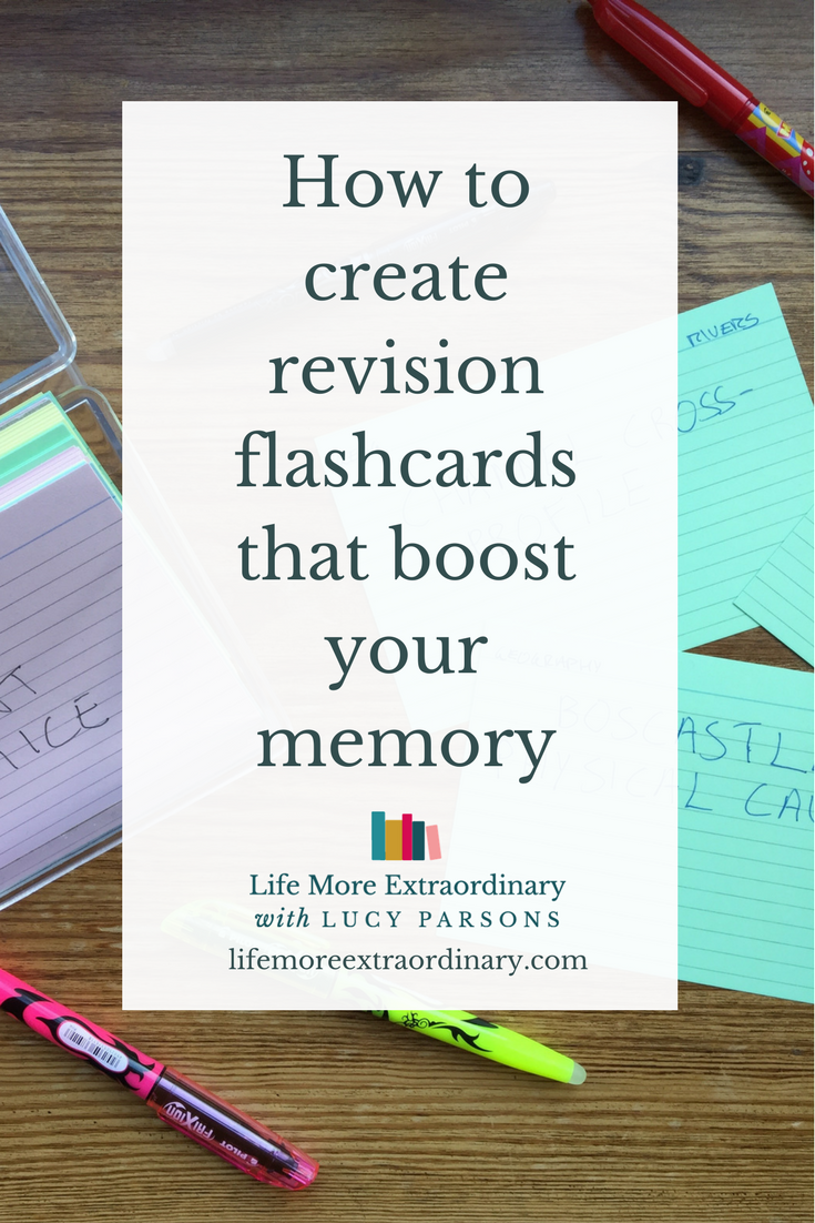 How to create revision flashcards that boost your memory | Flashcards are a fantastic way to revise. Click on the link to find out how to use them to boost your memory and include them in your revision strategy. #revision #studytips #flashcards