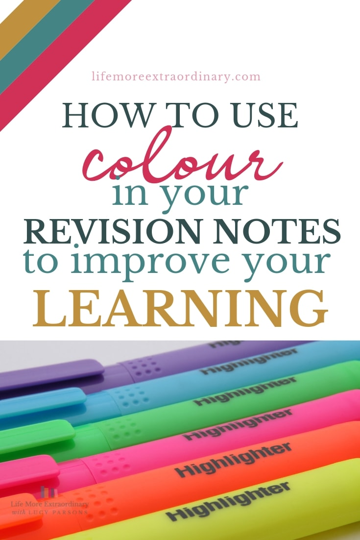 Using colour to make your revision notes can make learning and, more importantly, retaining the information easier. Here's how to do it... #studyskills #revisiontips