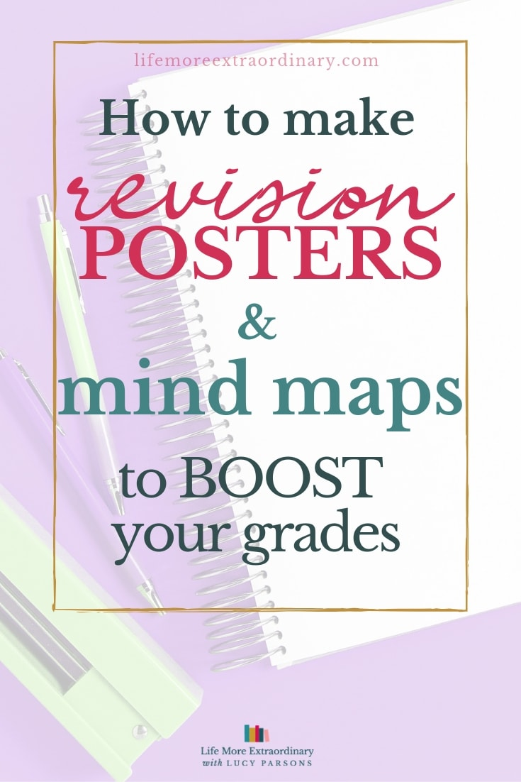 Revision posters and mind maps are brilliant for helping you to revise. Here's how to make them and boost your grades. #studyskills #revision