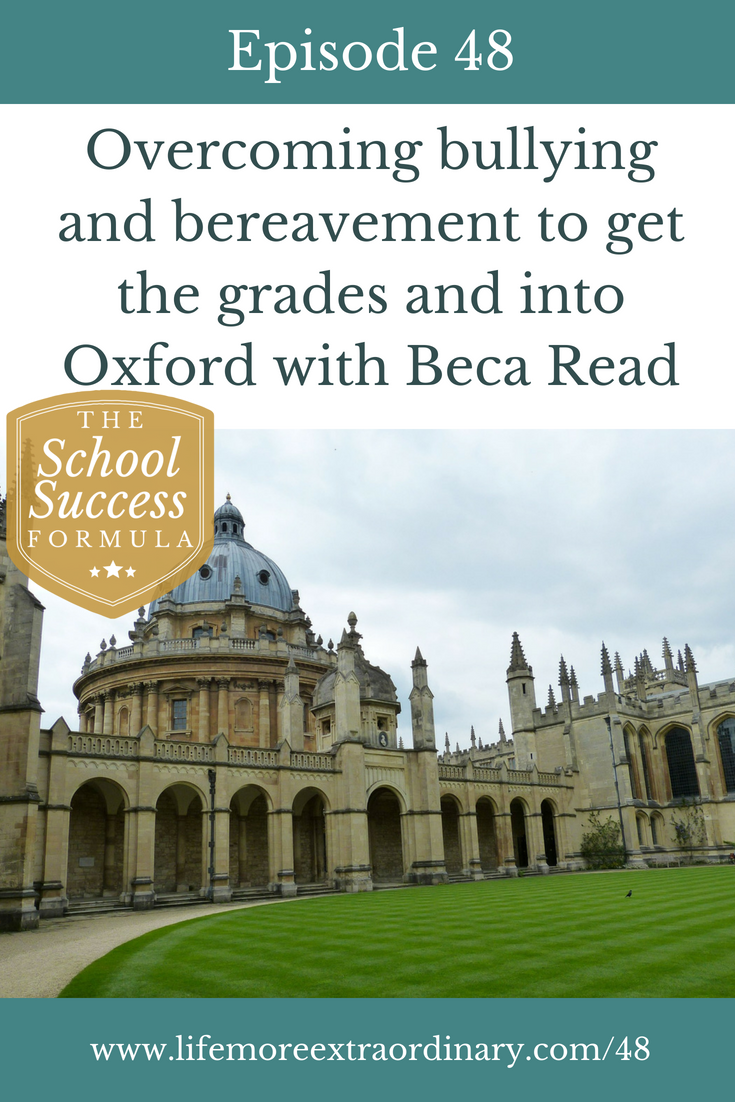 Overcoming bullying and bereavement to get the grades and into Oxford with Beca Read | An Oxford University student shares how she overcame bereavement and near-fatal bullying to achieve her dream of studying at this country's oldest university.#oxford #bullying #bereavement