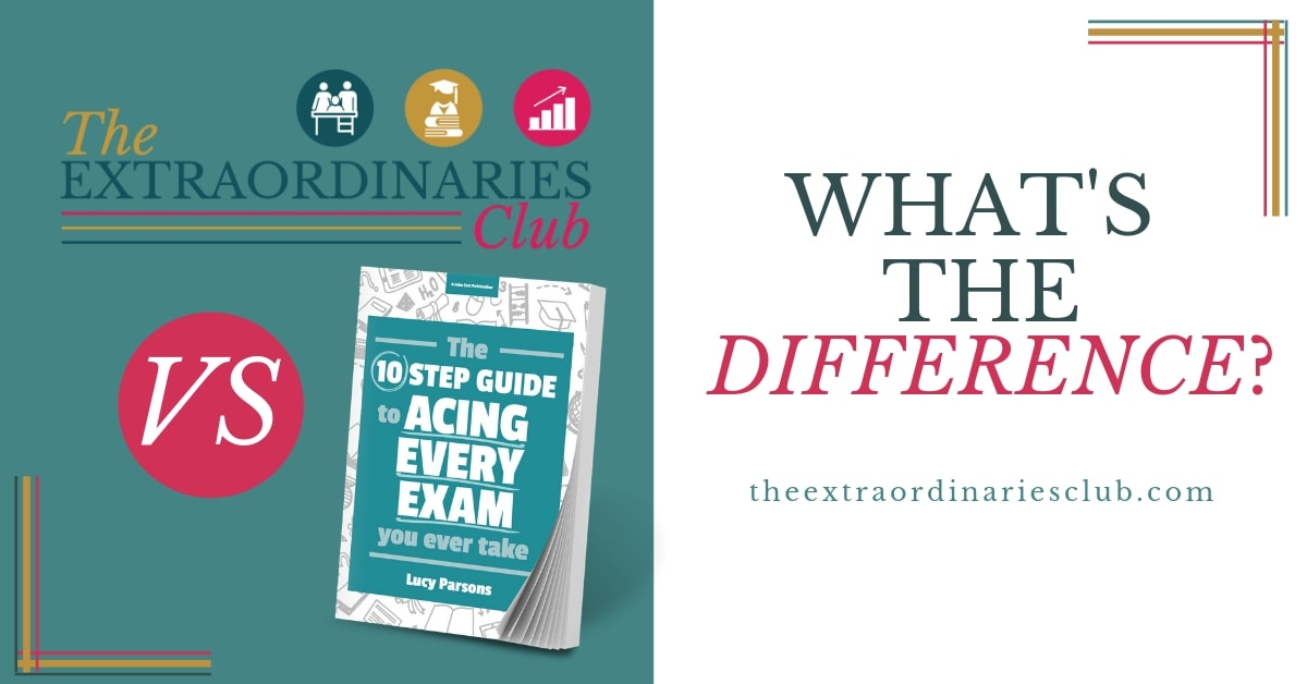 What's the difference between The Extraordinaries Club and The Ten Step Guide to Acing Every Exam You Ever Take