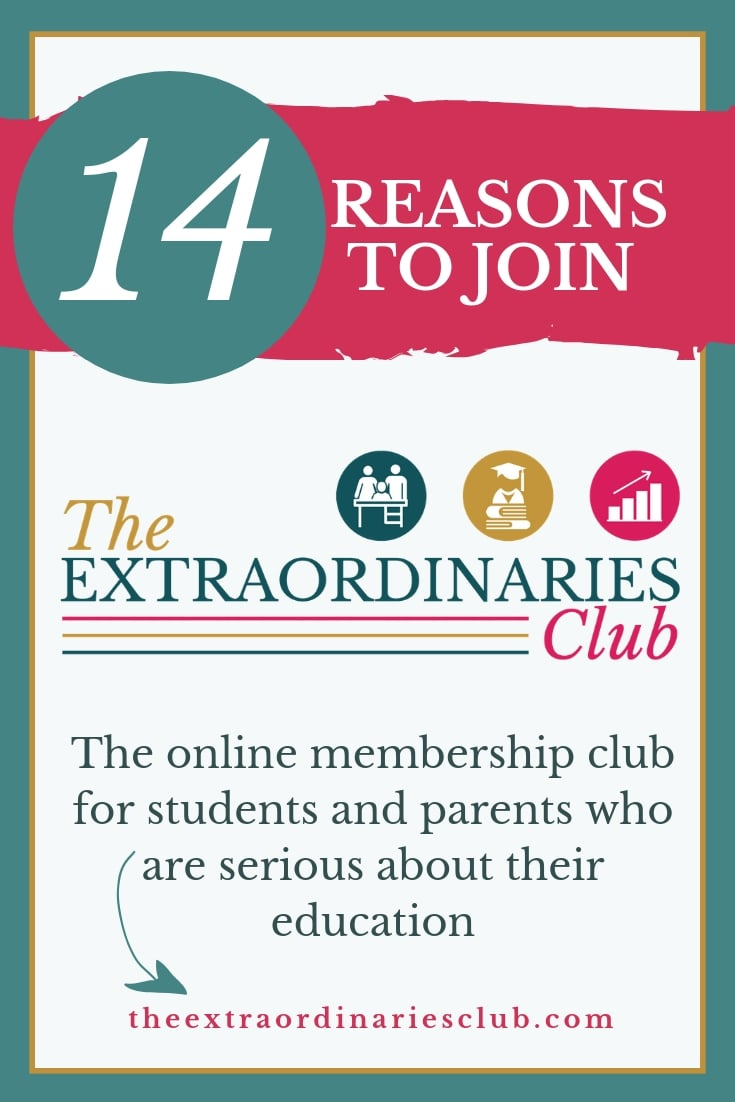 The Extraordinaries Club is an affordable online club for families providing year-round support in helping students with the skills and mindset needed to get outstanding results. If you want your child to reach their full academic potential this is the club for you! #backtoschool #parenting #teens