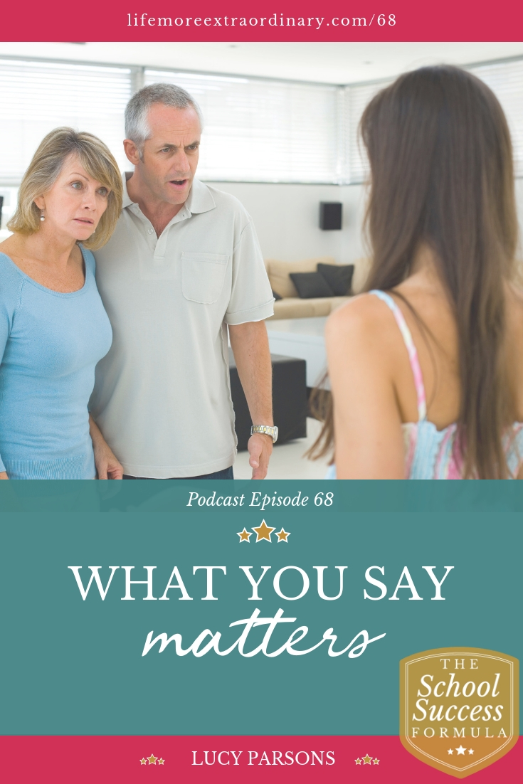 How aware are you of the effect of what you say and think? Have you noticed that what you say and how you say it can have a big impact on others, especially your children? Learn more about how to encourage your children and talk to them about studying and exams in a way that won't make them defensive #parenting #education #exams #studying
