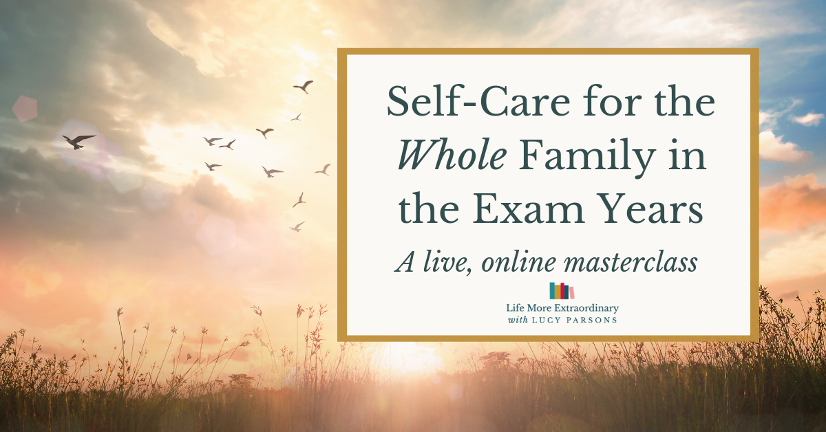Self-Care for the Whole Family in the Exam Years Masterclass