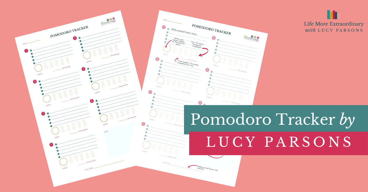 Pomodoro Tracker for GCSE and A Level students by Lucy Parsons