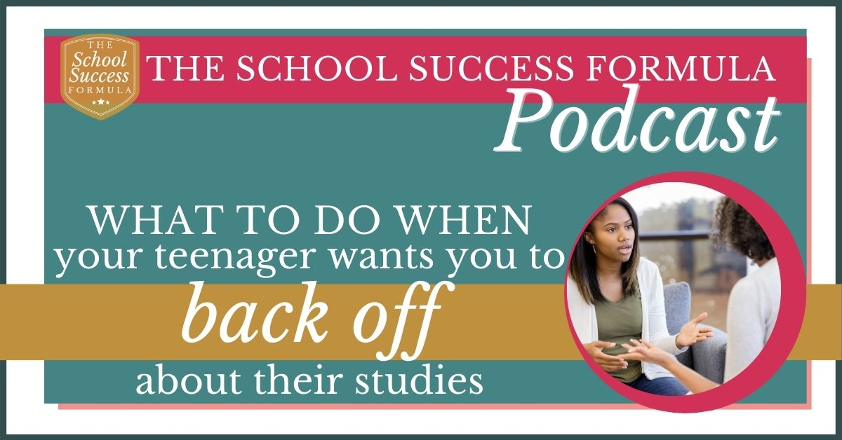 What to do when your teenager wants you to back off about their studies